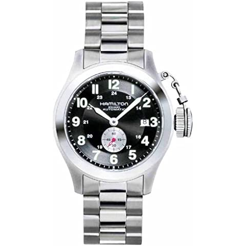 Hamilton Khaki Frogman H77415133 - Reloj de caballero automático, correa de titanio color plata
