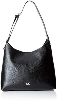 Michael Kors Medium Junie Pebbled Black Leather Shoulder Bag