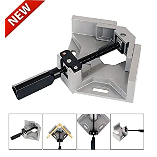 Makkalen Right Angle Clamp Corner Clamp 90° Right Angle Clamp Tool Woodworking Photo Frame Vise Welding Clamp Holder Woodworking Vice Wood Metal Welding