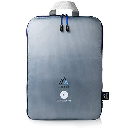 MNT10 Packtaschen mit Kompression I Packwürfel mit Schlaufe als Koffer-Organizer I leichte Kompressionsbeutel für den Rucksack I Kleidertaschen als Gepäck Organizer auf Reisen | Packing Cubes (XL) -