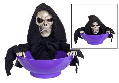 Halloween Candy Schüssel mit Bewegungssensor schreit und leuchtet Palandi® (Halloween Candy Schüssel)
