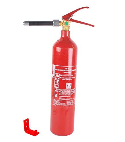 Feuerlöscher CO2/Kohlendioxid 2kg (GSE-2XB EDV-Löscher Prüfplakette Feuerlöscher-Tauschsystem)
