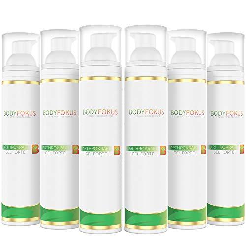 BodyFokus ArthroKraft Gel Forte - Veganes Gel für Gelenke und Muskeln mit Weihrauch, Calendula uvm. - 6 Spender