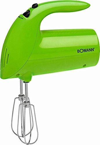 Batidora de mano para mezclar dispositivo 5niveles schaltung–Batidora (Ganchos para amasar Varilla (Motor 250W, agitador, todos los accesorios para lavavajillas, Verde)