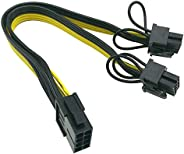 (CPU to GPU) CPU 8 Pin Female to Dual PCIe 2X 8 Pin (6+2) Male Power Adapter Splitter Cable for Graphics Card