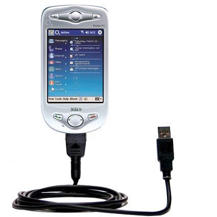 Das Hot-Sync Straight USB-Datenkabel für HTC Wallaby mit Lade-Funktion mit TipExchange kompatiblen Kabel