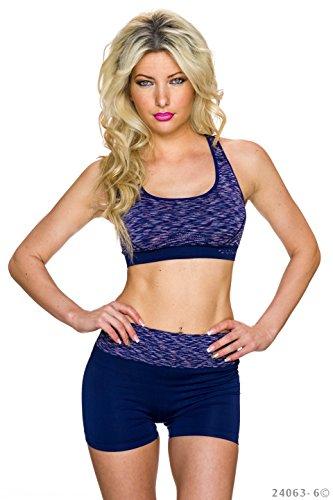FASHION BOUTIK ensemble fitness sport short brassiere rembourré 36 38 40 Violet