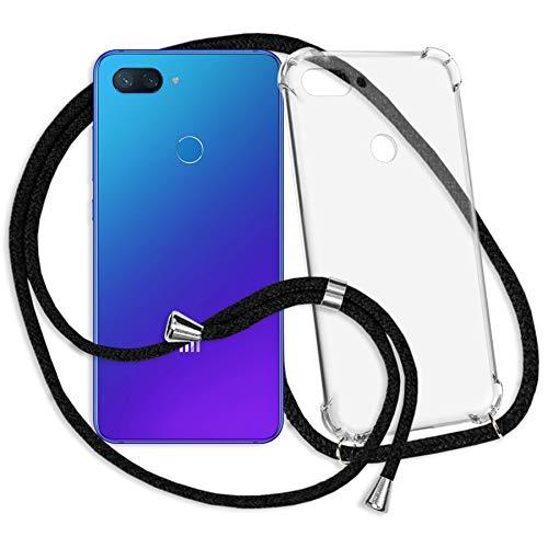 mtb more energy® Handykette für Xiaomi Mi 8 Lite (6.26'')   schwarz   Smartphone Hülle zum Umhängen   Anti Shock Strong TPU Case
