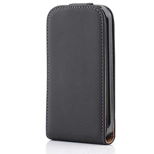 HSRpro Flip Hülle für Apple iPhone 3G - iPhone 3GS - Schutzhülle Cover Case Schutz Etui in Schwarz Iphone 3g Leder-etui