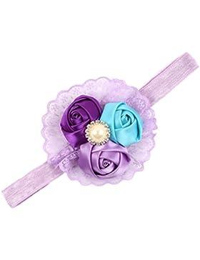 Zhhlinyuan Infant Headband Chiffon Headdress Baby Girls Rose buds Hairband H034