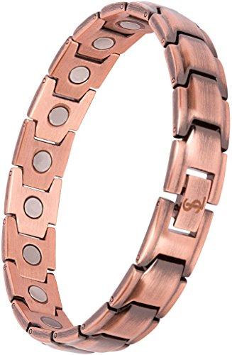 Smarter LifeStyle Elegantes Magnetisches Therapie-Armband Aus Reines Kupfer Schmerzlinderung Für Arthritis Und Karpaltunnelsyndrom Männer