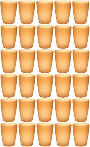 idea-station NEO Kunststoff-Becher 30 Stück, 250 ml, orange, mehrweg, bruchsicher, stapelbar, Party-Becher, Plastik-Becher, Mehrweg-Becher, Wasser-Gläser, Trink-Gläser -