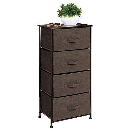 MDesign Cómoda de tela - Práctico organizador de armarios con 4 cajones - Sistema de almacenamiento...