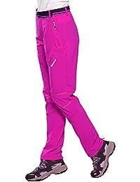e6e601b46490 FLYGAGA Damen Outdoor Hose Outdoorhose Wanderhose Trekkinghose mit Gürtel  Schnelltrocknend Elastisch Hose Funktionhose für…