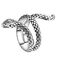 أزياء سبائك الاصبع الرجال بيان مجوهرات هدية الشرير كوبرا شكل ثعبان