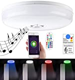 Luminea Home Control Deckenlampe WiFi: RGBW-LED-Deckenleuchte, kompatibel mit Amazon Alexa & Google Assistant (WLAN-Lampe Alexa)