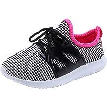 PAOLIAN Zapatillas Deporte de Running para Niñas Niños Verano 2019 Zapatos de Cordón Deportivos Chica Antideslizante