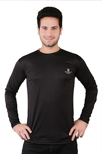 Friction Men's Sports Black Full Sleeve T-Shirt/ Inner