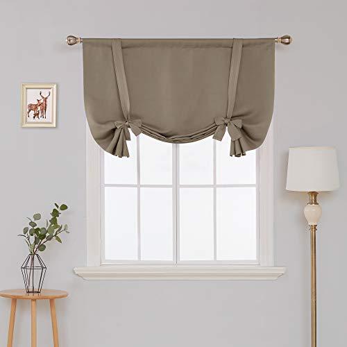 Deconovo tende oscuranti camera da letto elegante per soggiorno con anelli 140x175cm cachi 2 pannelli