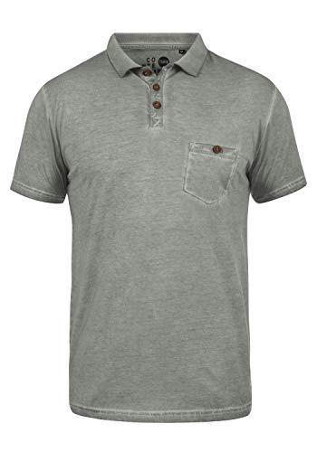 !Solid Termann Herren Poloshirt Polohemd T-Shirt Shirt mit Polokragen aus 100% Baumwolle, Größe:XXL, Farbe:Mid Grey (2842) - Herren Pique Polo Solid