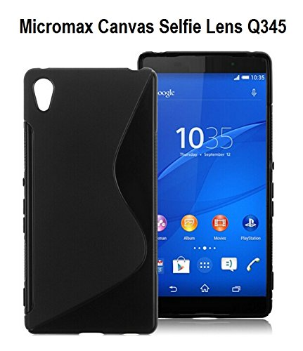 S Case Anti-skid Soft TPU Back Case Cover for Micromax Canvas Selfie Lens Q345 (Black)  available at amazon for Rs.139