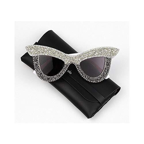 Sport-Sonnenbrillen, Vintage Sonnenbrillen, New Cat Eye Sunglasses Women Luxury Rhinestone Big Frame Oversized Sun Glasses For Men Vintage Shades For Women Oculos mix