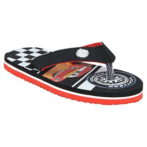 Cars Boy's Black/Red Flip-Flops and House Slippers - 2 UK/India (34 EU)