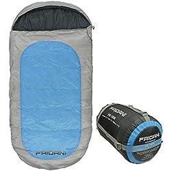 Fridani Mantas Saco de Dormir para niños PB 180x90cm XXL -12°C Azul Repelente al Agua Caliente Lavable