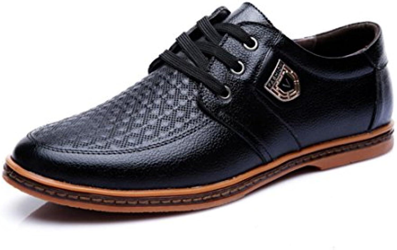 Herren Lederschuhe Business Arbeit Comfort Laceup Schuhe mit Hand Genäht Wies Schuhe Gummisohle Lederschuhe Frühling