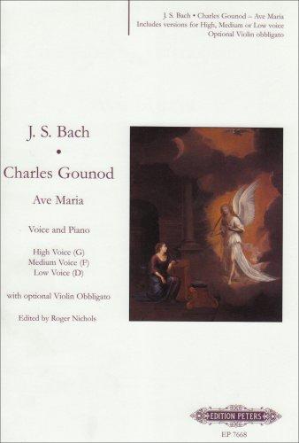 Ave Maria pour Voix et Piano, en option ...