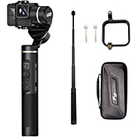Feiyutech G6 (Dishot Barre d'extension + adaptateur GoPro sessions) WiFi Bluetooth Écran LED 3 axes Handheld Gimbal pour GoPro Hero/6/5/4/3 +/3 YI Cam 4 K/AEE et GoPro sessions Sony Rx0