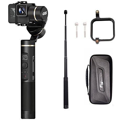 Feiyutech G6 (Verlängerungsstange + GoPro Sessions Adapter) WiFi Bluetooth LED Bildschirm 3-Achsen Handheld Gimbal für GoPro Hero 6/5/4/3+ / 3 Yi Cam 4K / AEE und GoPro Sessions Sony RX0 -