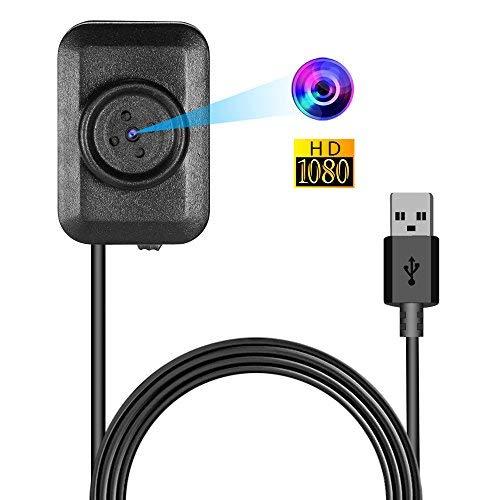 Mini Spy Versteckte Kamera, Vaxiuja Ultra-kleinen Knopf Entwurfs Nachtsicht 1080P Full HD12Megapixel Bewegungserkennung Tragbare Kamera für Home Security Mit 145cm USB Port TF Karte Bis Zu 32GB