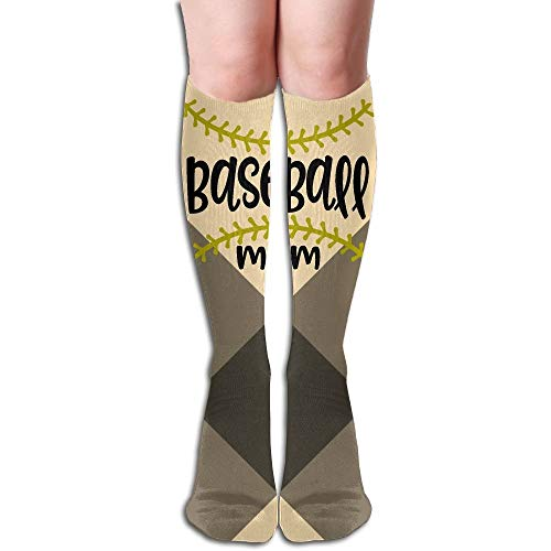 Kotdeqay Baseball Mom 3D Printing Anti-Odor Running Long Sock Athletic Socken