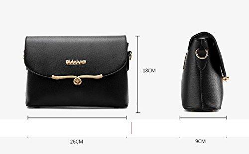 HQYSS Borse donna Coreana PU cuoio croce corpo quadrato piccolo pacchetto donne borse tracolla Messenger , black black