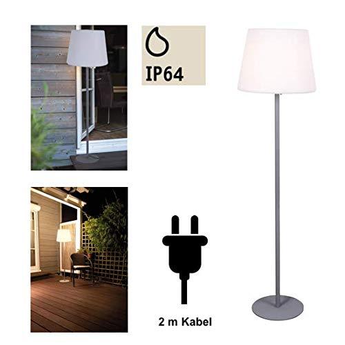 Heitronic Außenstandleuchte Holiday Weiß IP64 | 23W | 27690 - Metall-halogen-licht-lampe