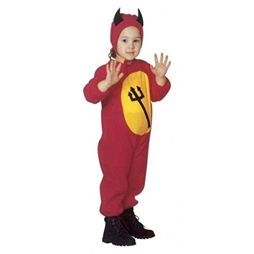 Widmann 3616D - Teufelchen Kostüm und Kopfbedeckung, Größe 104 / 110 (Halloween Kostüm Ideen 20 Jahre Alt)