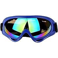 WDAKOWA Outdoor Lunettes De Sport Moto Anti-Sable Lunettes Miroir De Ski,C