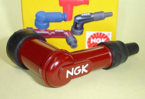NGK Angled Resistor Spark Plug Cap LB05F (8854) for Car Motorbike Scooter Boat (or any machine that needs a Plug Cap) Test
