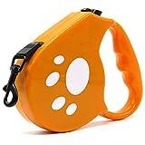kocykoi Einziehbarer Hunde Gurt-Traktions Gurt leicht + ft automatische hundegurt Heavy Gewirr Freien Traktions Gurt Kleine und mittelgroße Hunde (gelb)