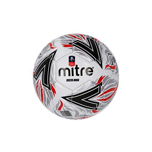Mitre Kids' Delta Mini Replica FA Cup Football, Black/Red, for sale  Delivered anywhere in UK