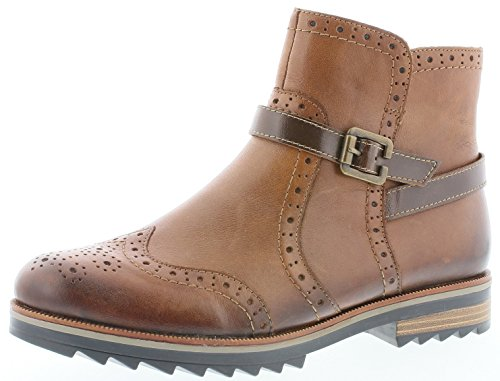 Remonte R2278 Damen Stiefeletten, Stiefel, Boots, Schlupfstiefel braun (Chestnut/Kastanie / 24), EU 38