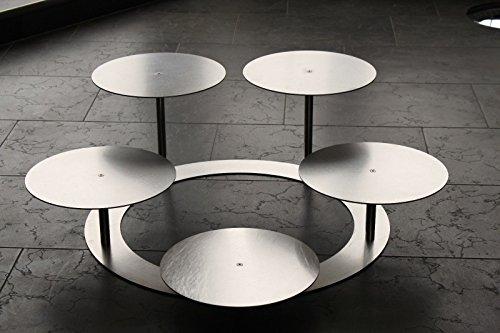Eine Etage (Tortenständer Tortenetagere Aluminium 3 Etagen Rund, Hochzeitstortenständer Ø 30 cm)