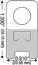 100Autoadhesivo Plástico Transparente colgar etiquetas de pestañas Percha pegbord Slatwall Gancho 12oz