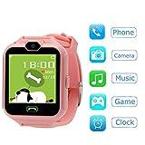 Hangang Smartwatch Orologio Kids Telefono Smart Game Orologi per bambini, Kid Smartwatch Videogiochi Touch Screen Cool Toys Guarda i regali per ragazze Ragazzi (Pink)