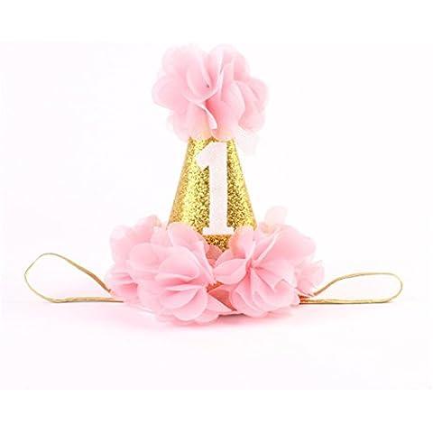 Interesting® Parte preciosa corona Niño sombrero del bebé, mini brillo de la venda de los bebés del niño DIY Las prendas de vestir Accesorios para el cabello