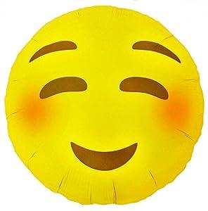 """North Star balón de papel de aluminio 18""""""""-45cm emoticon-smile pequeño, Multicolor, 5ns01271-01"""