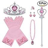 Vicloon 9Pcs Princesa Vestir Accesorios Regalo Conjunto de Belleza...