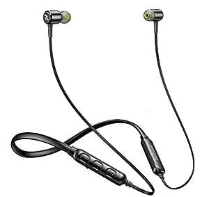 Red Lemon Dhoom D110 Sports Bluetooth Wireless Earphone with Mic, Vibration & Bluetooth v5.0 (Jet Black)