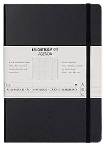 Leuchtturm1917 330862 Adressbuch (A-Z Register, Medium, A5) schwarz
